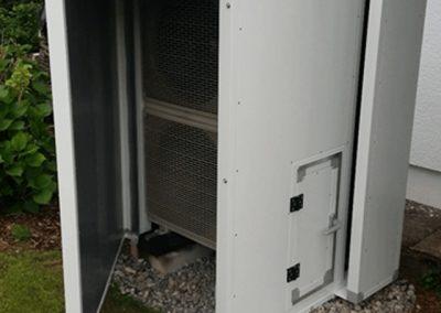 Lärmschutzeinhausung Wärmepumpe mit getrenntem Zuluftkanal