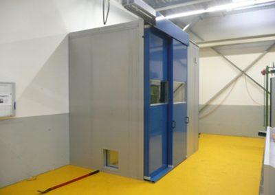 Lärmschutzkabine 110 mm mit Doppelschiebetür